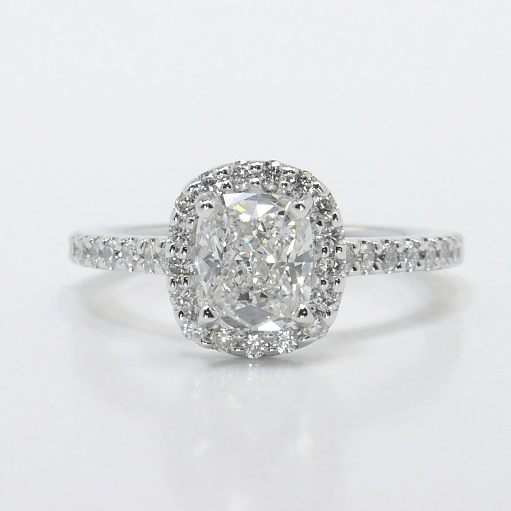 Classic Cushion Halo Diamond Ring