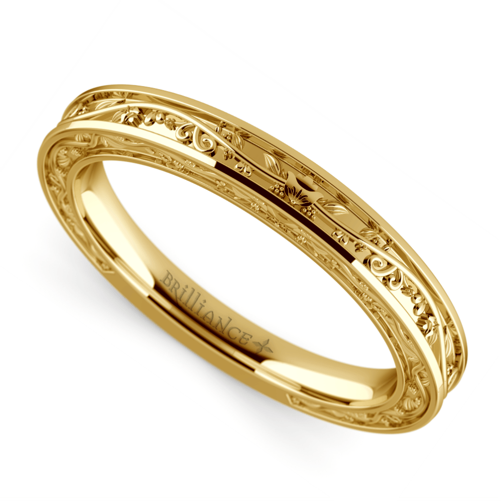Antique Wedding in Yellow Gold