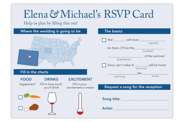 Elena & Michaels RSVP Card