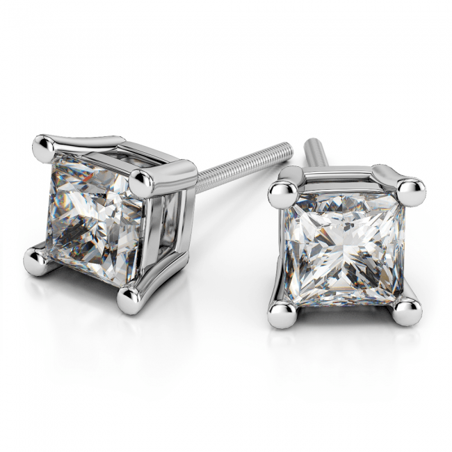 Princess-Cut Diamond Earrings