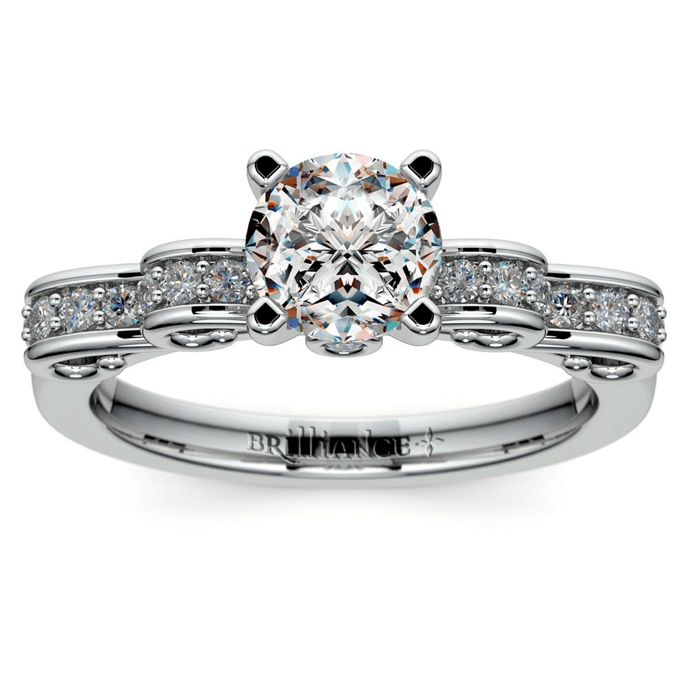 Cinderella Ribbon Diamond Engagement Ring