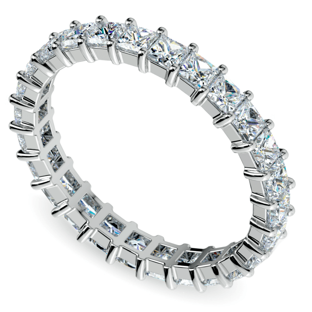 Princess Diamond Eternity Ring in White Gold