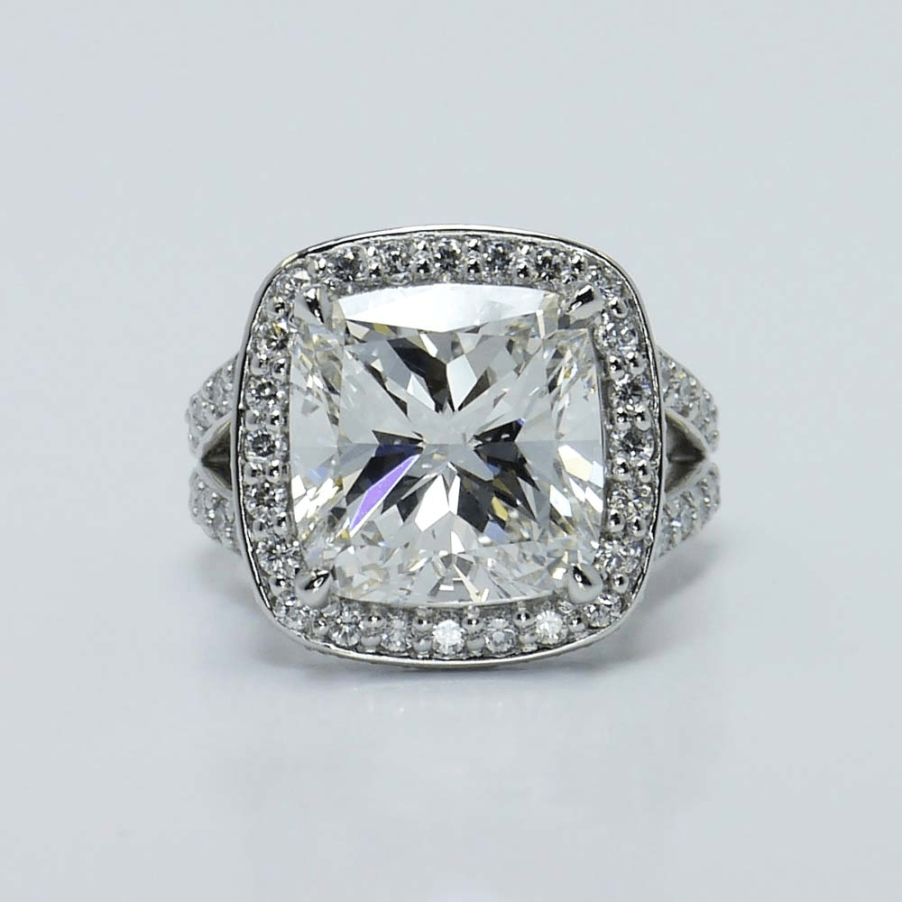 Custom Vintage Setting Cushion Diamond