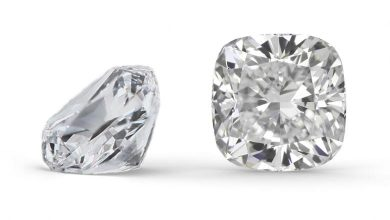 two cushion cut loose diamonds