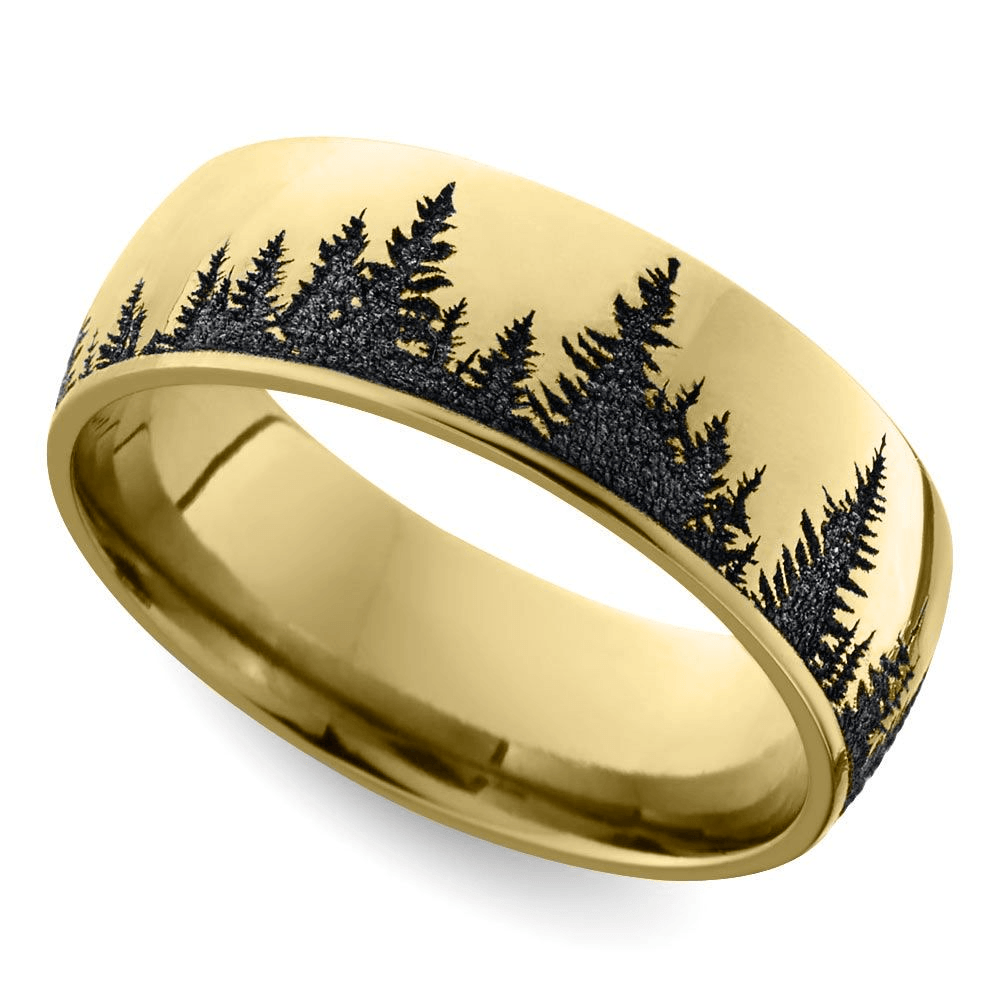 Nature Inspired Mens Rings