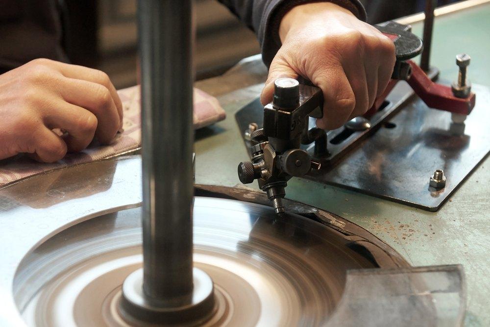 Diamonds are precisely cut using high-tech equipment