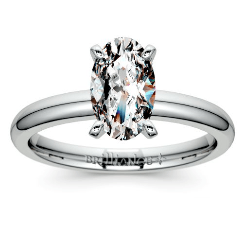 Classic Solitaire Engagement Ring in White Gold