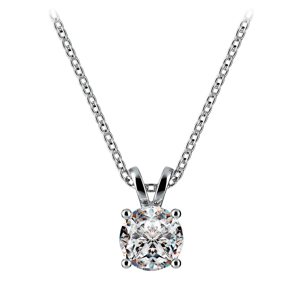 Perfect idea diamond solitaire pendants round diamond solitaire pendant in white gold aloadofball Choice Image