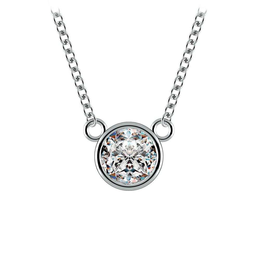 Perfect idea diamond solitaire pendants bezel diamond solitaire pendant in white gold aloadofball Images