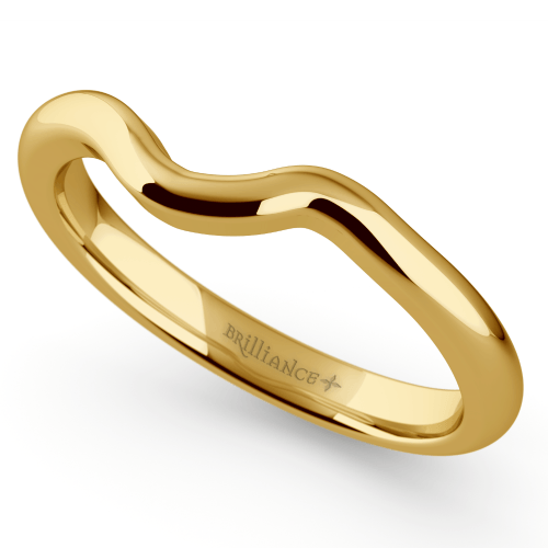 Swirl Style Wedding Ring in Yellow Gold