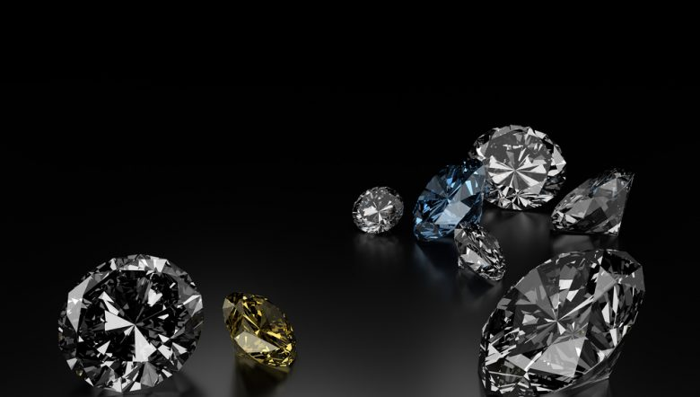 diamonds-on-black-background-blue-and-yellow-small-diamonds
