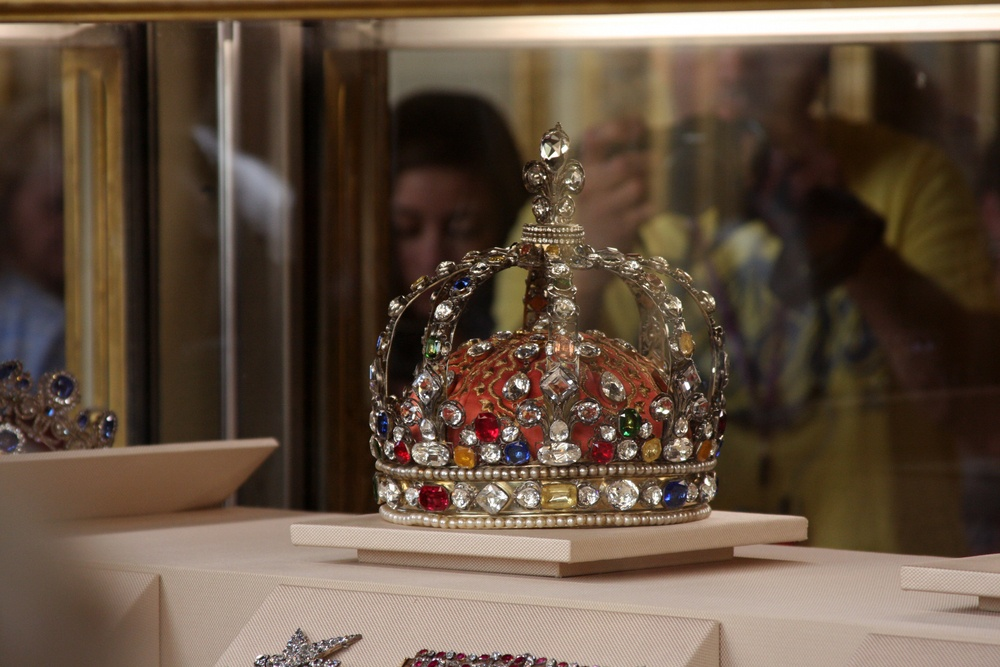 london england june 11-2015 the british crown jewels on display at the tower of london the jewels