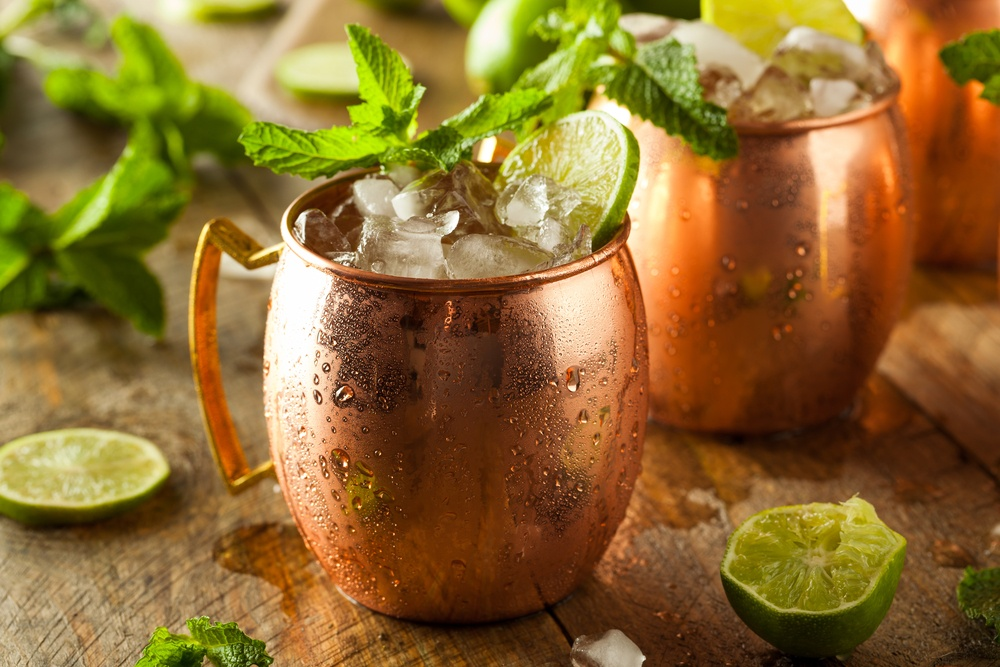 icy cold moscow mules ginger beer