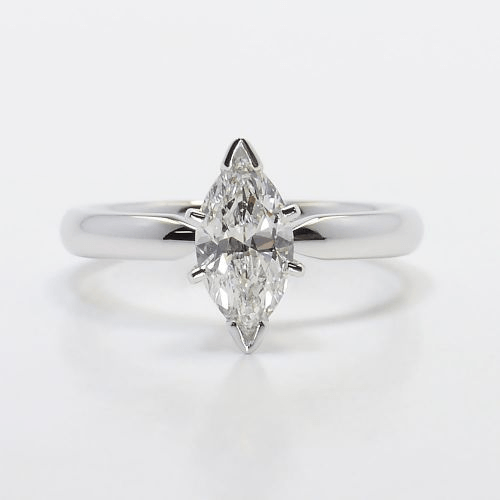 Six-Prong Solitaire Marquise Engagement Ring