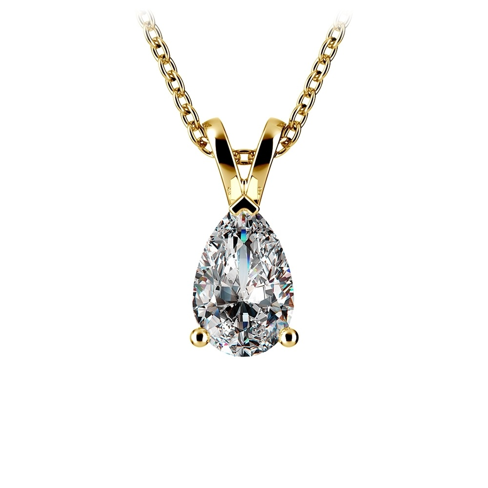 Nontraditional Wedding Jewelry The Pear Diamond Necklace