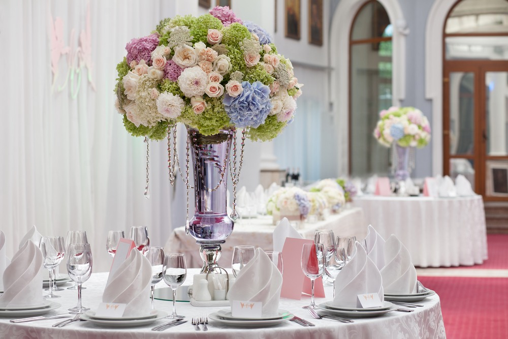 table setting luxury wedding reception beautiful
