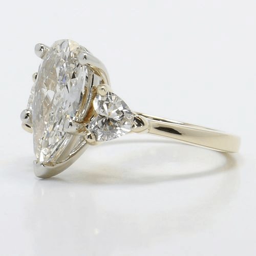 Two-Tone Pear and Heart Diamond Engagement Ring
