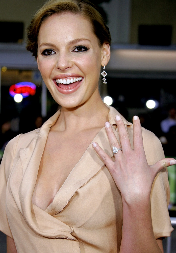 Katherine Heigl's 3-carat pear cut diamond ring