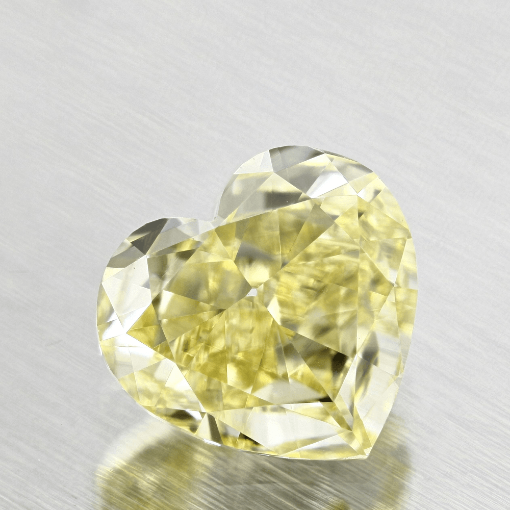 .61 Ct Fancy Yellow Heart Diamond with VVS1 clarity