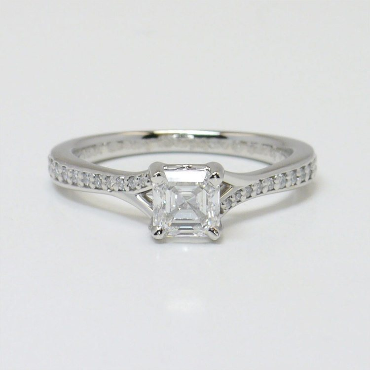 en asscher rings diamond engagement stone royal der ring de collection cut jewelry