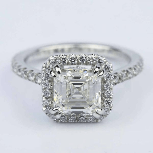 asscher diamond engagement watch royal ring youtube