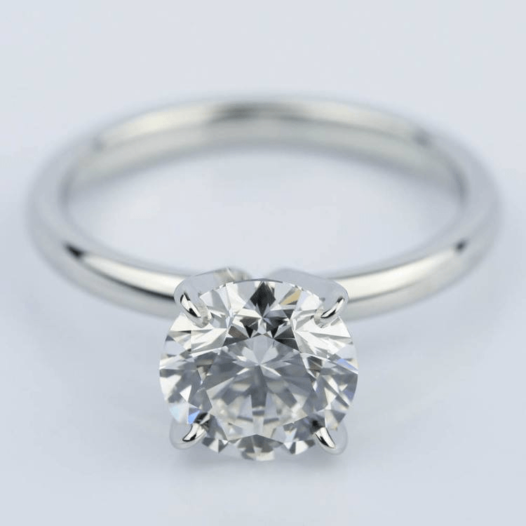 Flawless Round Diamond Solitaire Engagement Ring