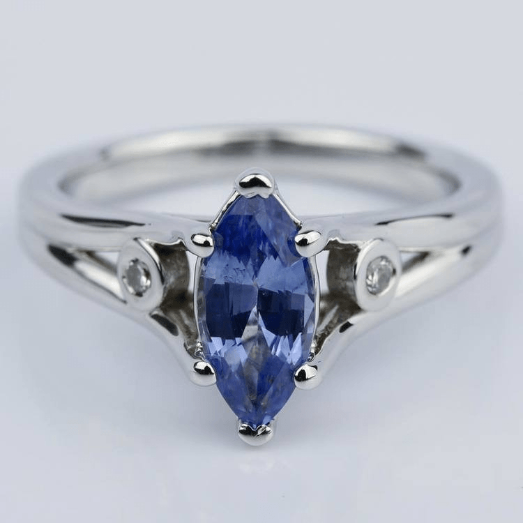 Marquise Sapphire Engagement Ring