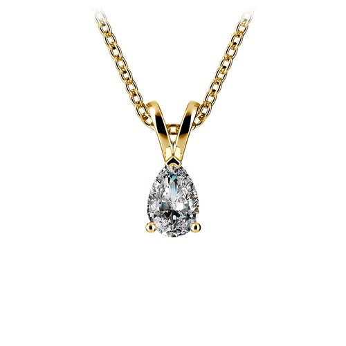 teardrop shape diamond pendant