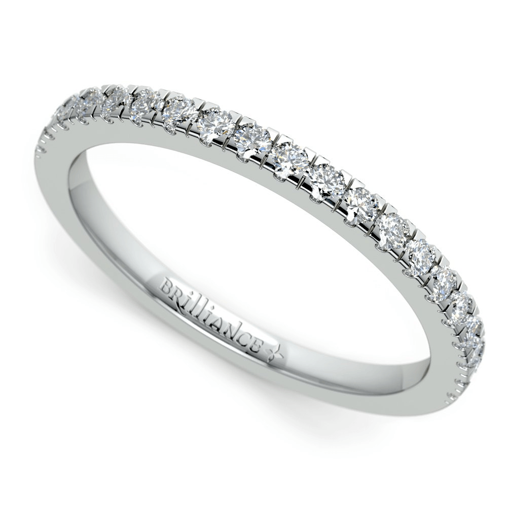 Petite Pave Diamond Wedding Ring