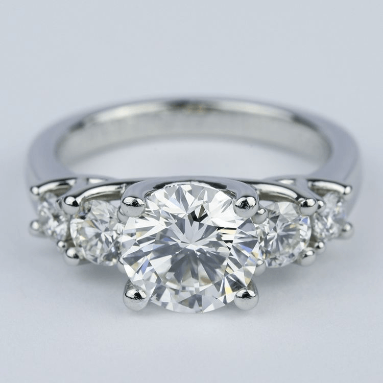 Trellis Five-Diamond Engagement Ring