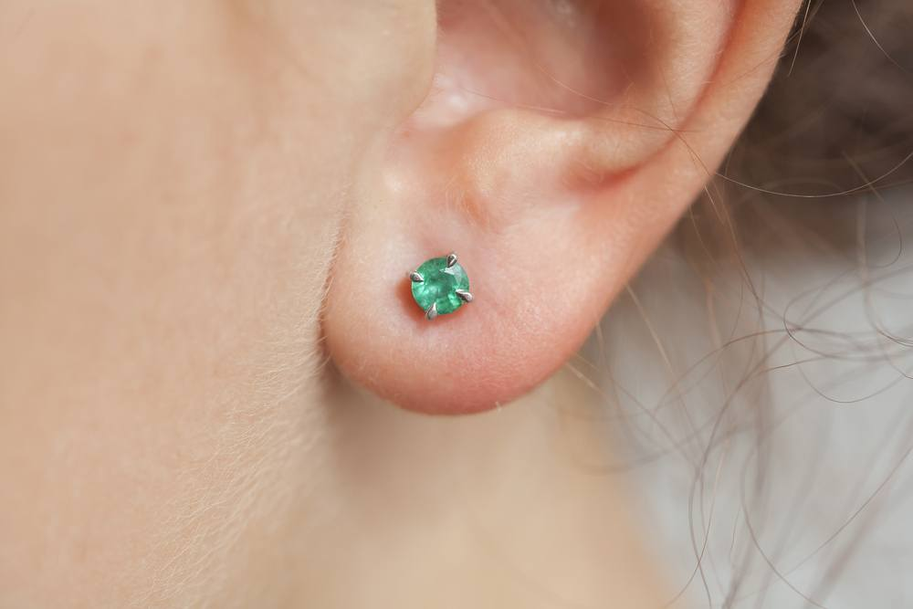 gemstone stud earrings for women
