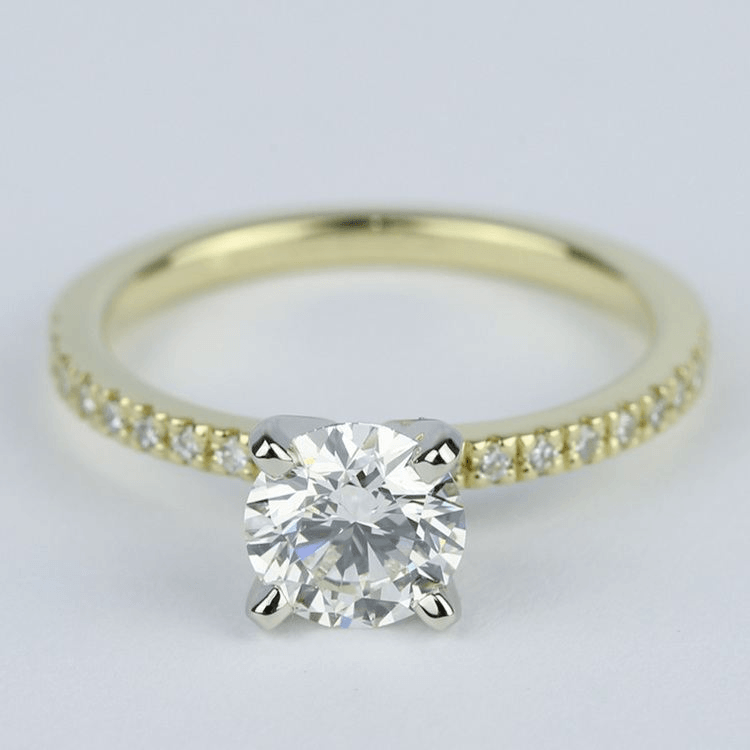 Petite K Color Diamond Engagement Ring