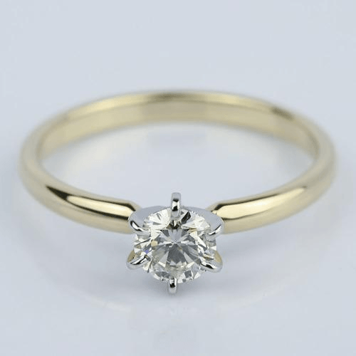 Six Prong Comfort Fit Round Diamond Engagement Ring
