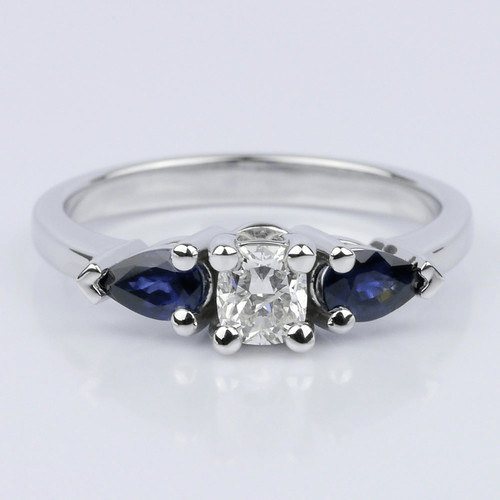 Pear Sapphire Gemstone Engagement Ring