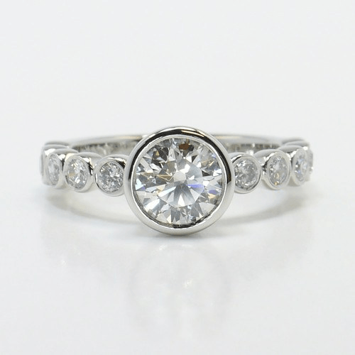 Bezel Engagement Ring in Platinum