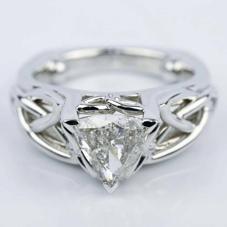 Celtic Knot Trillion Diamond Engagement Ring