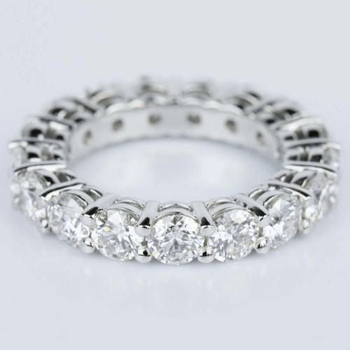 Custom Certified Diamond Eternity Ring in Platinum
