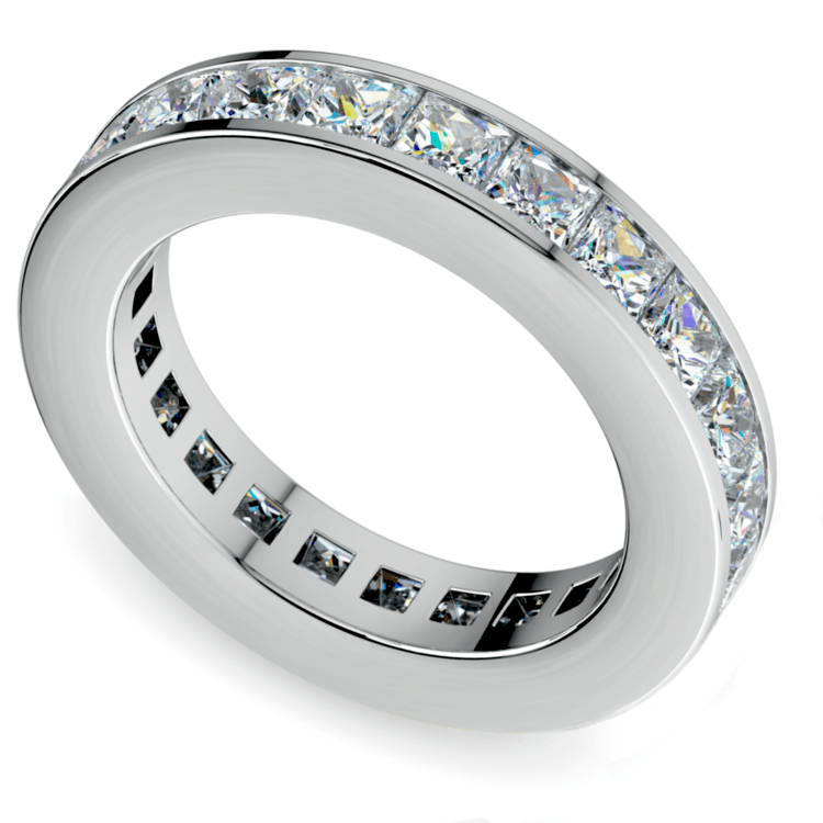 Princess Channel Eternity Ring In White Gold