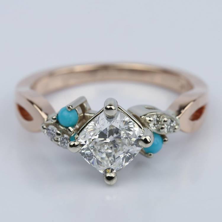 rustic diamond engagement ring