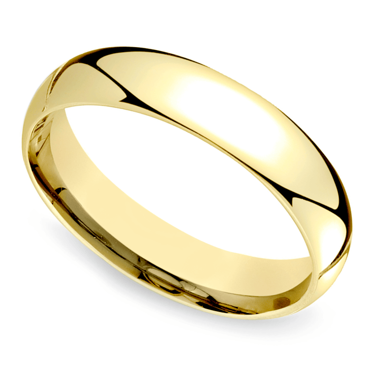 Mid-weight Men's Band Yellow Gold (5mm)