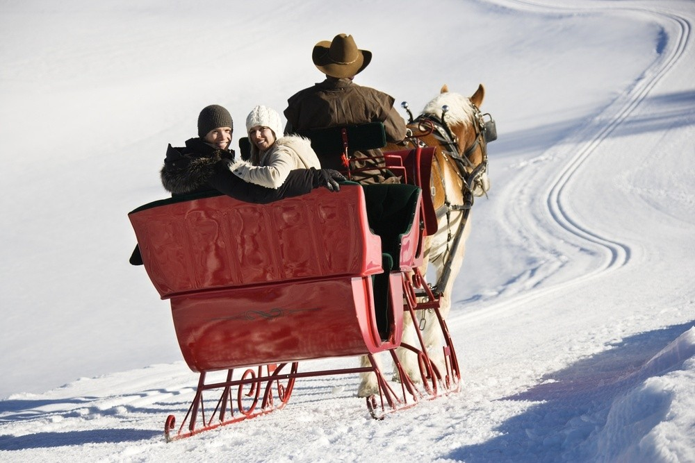A winter sleigh ride