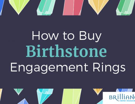 birthstone engagement ring