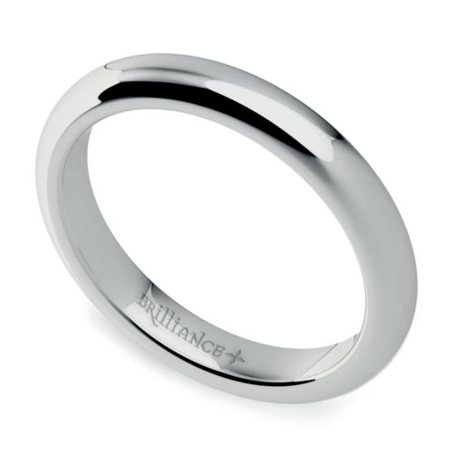 Comfort Fit Men's Wedding Ring in Platinum