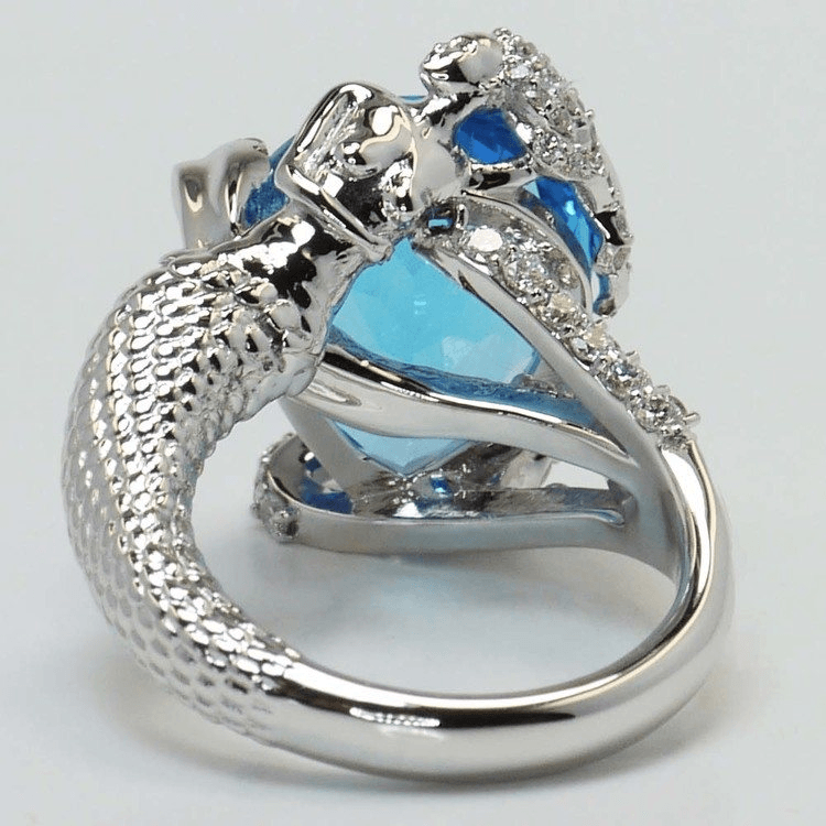 Custom Mermaid Setting with Topaz Center Stone