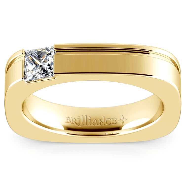 Achilles Princess Solitaire Mangagement™ Ring In Yellow Gold