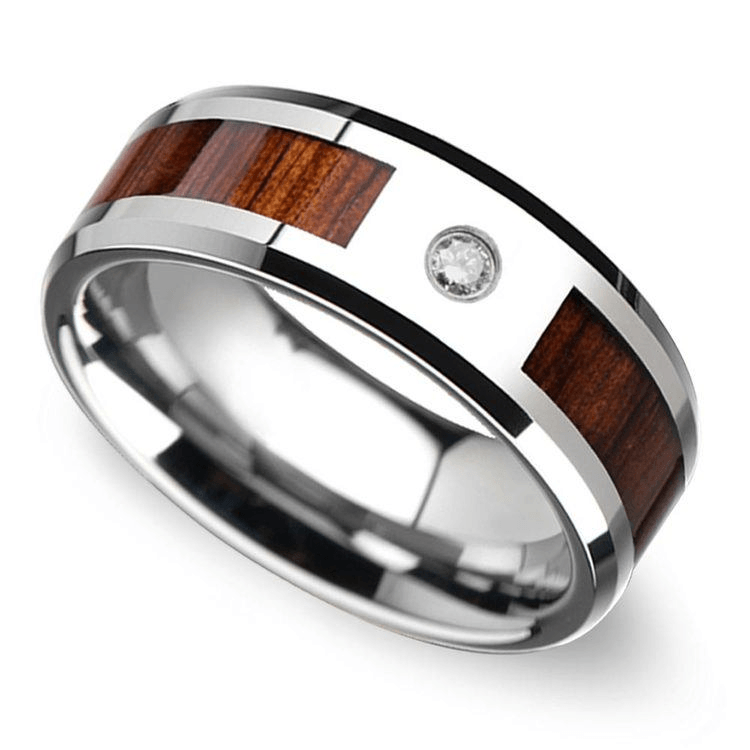 Trend Alert Men S Wedding Bands With Wood Inlays The Brilliance