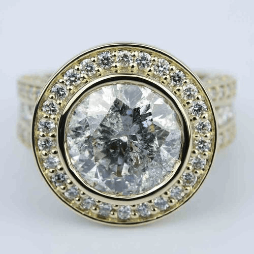 Halo Bezel 6 Carat Diamond Engagement Ring