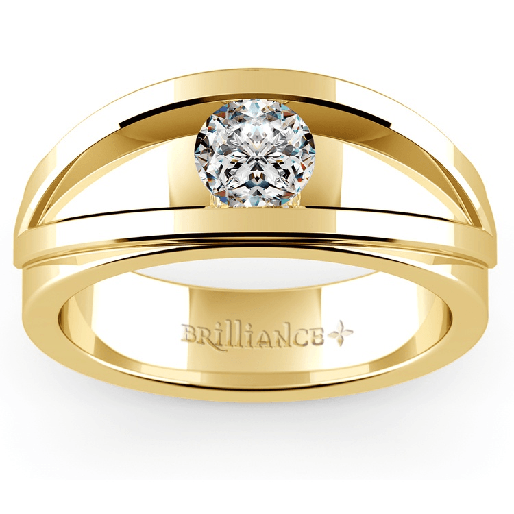 Hyperion Solitaire Mangagement™ Ring In Yellow Gold