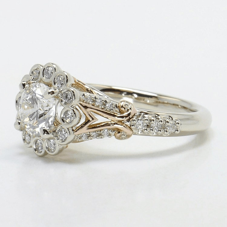 Vintage Leaf Filigree Ring