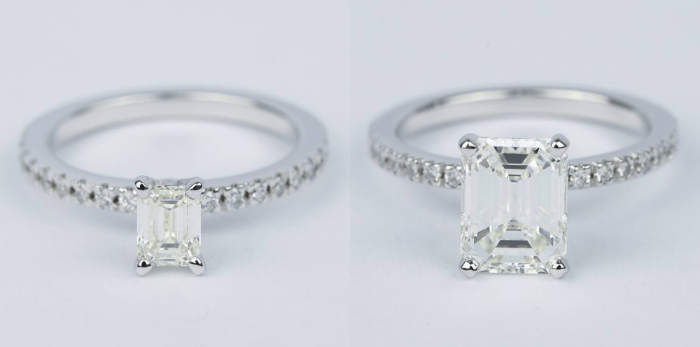 skinny band engagement rings